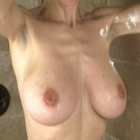 Abbey in the shower