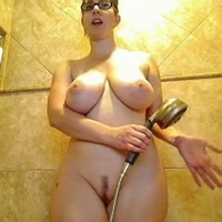 Amber in the shower