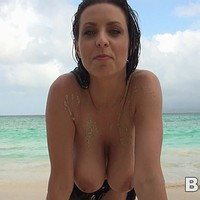 Ewa at the beach