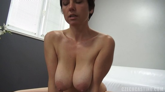 Naked in the streets before fucked by three guys