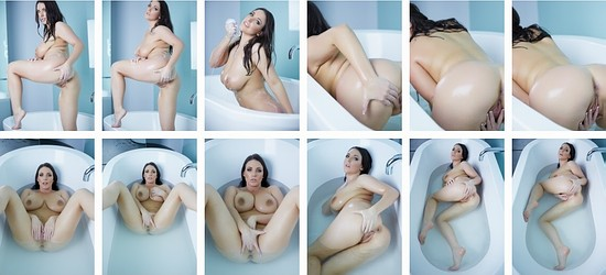 Angela White in bath